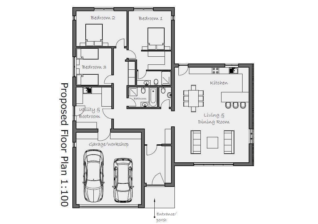 Trevenen self-build home floor plan